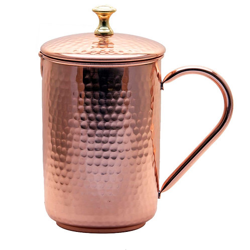 Hammered Copper Jug With Lid 1500 ml