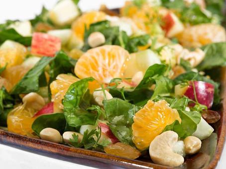 Palak and Fruit Salad Recipe - Starter