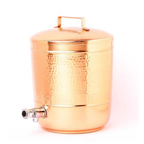 Hammered Copper Water Storage Pot