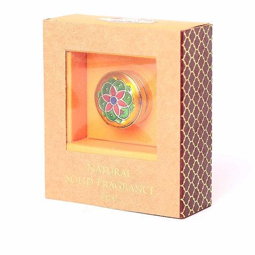 Solid Perfume in Brass Cloisonne Jar 4g
