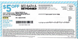 $5 Off $15 at Bed Bath and Beyond Coupon