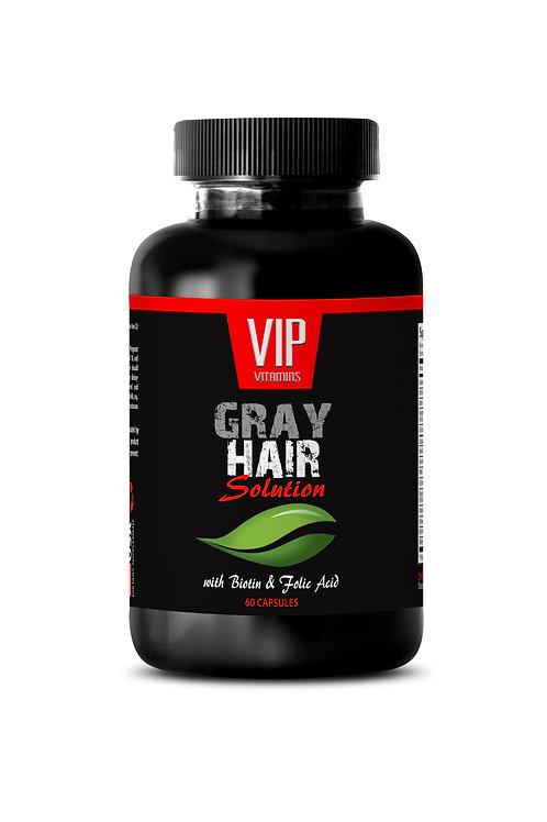 GRAY HAIR SOLUTION PILLS - TOP QUALITY FORMULA