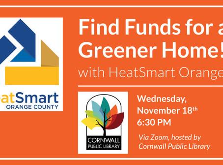 November 18 Slide Presentation: Find Funds for a Greener Home
