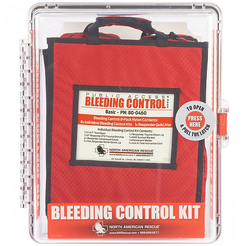 Public Access Bleeding Control Kit - Wall Mount - 8 Pack