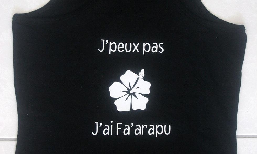 Débardeur J'PEUX PAS J'AI FA'ARAPU