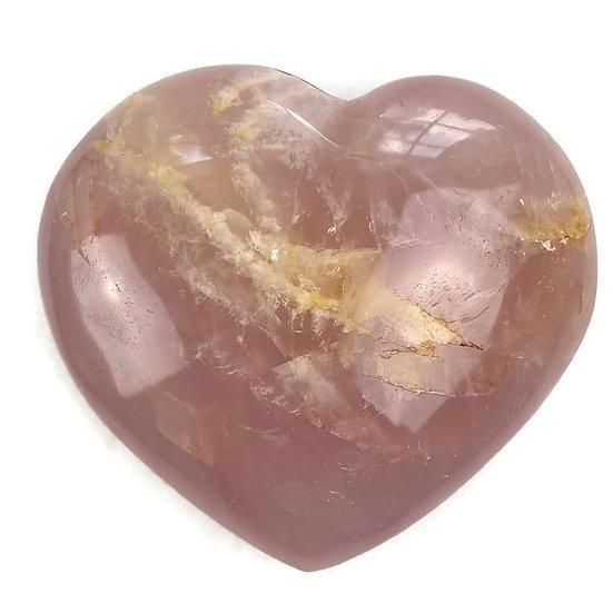 ROSE QUARTZ HEART for Love, Attraction & Passion