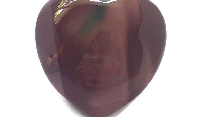 MOOKAITE JASPER HEART for Peace, Stress Relief & Grounding