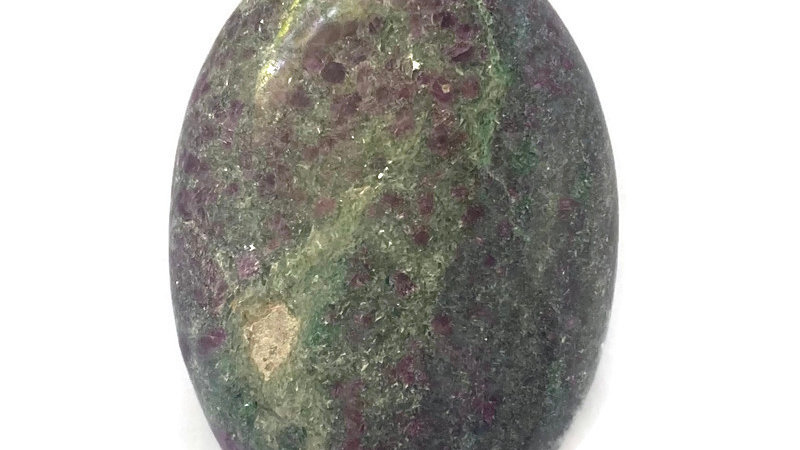 RUBY FUSCHITE PALM STONE for Self Esteem, Healing & Harmony