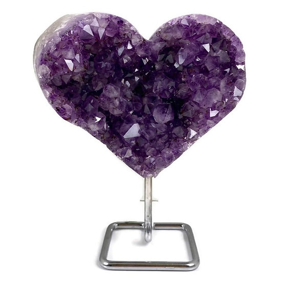 AMETHYST HEART for Spiritual Awareness, Inner Peace & Healing
