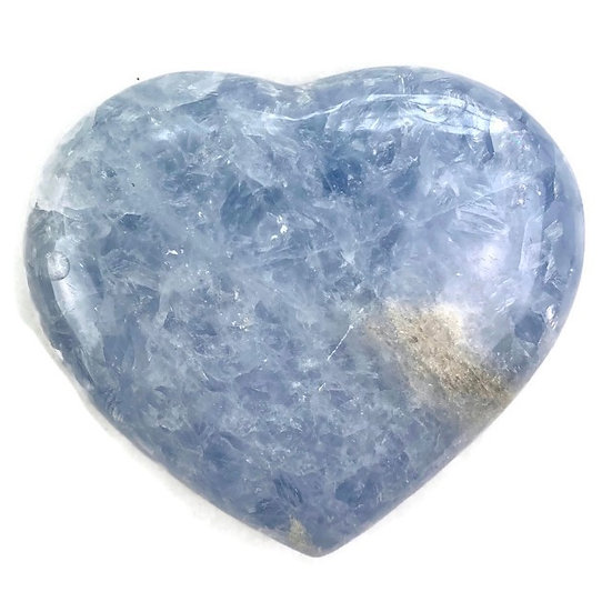 BLUE CALCITE HEART for Optimism, Protection & Truth