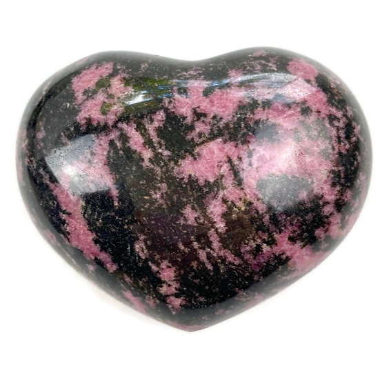 RHODONITE HEART for Emotional Healing, Forgiveness & Love