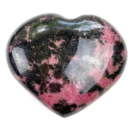 RHODONITE HEART for Emotional Healing, Forgiveness & Love