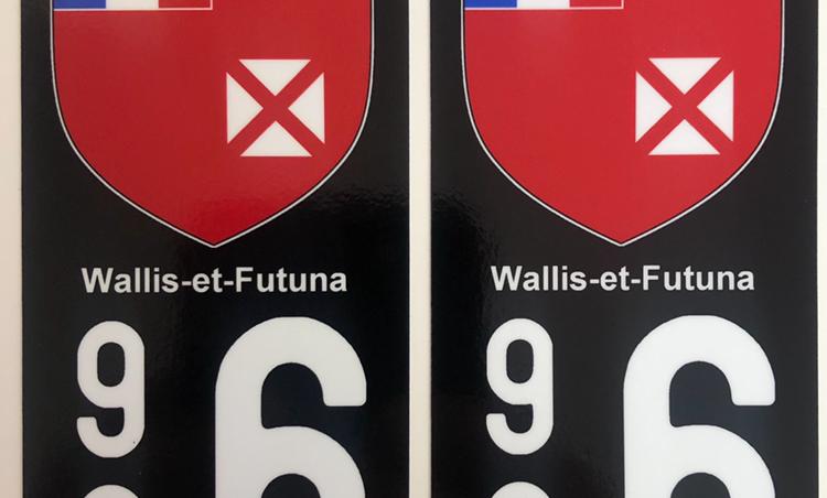 Autocollant Plaque Immatriculation 986 Wallis et Futuna