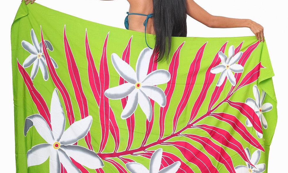 Pareo Long Tiare Tahiti Vert