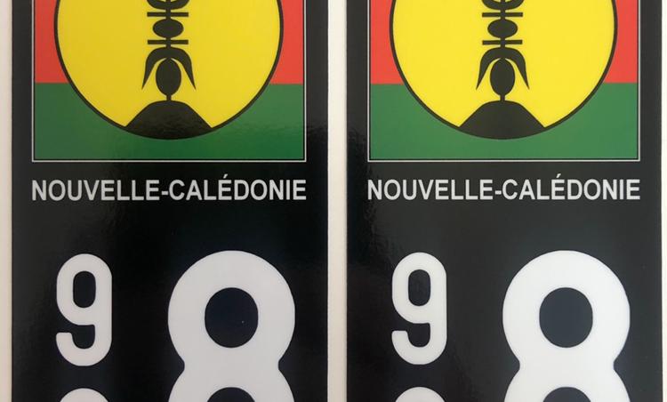 Autocollant Plaque Immatriculation 988 Nouvelle-Calédonie