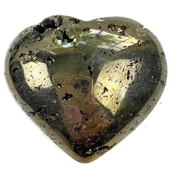 PYRITE HEART for Protection, Prosperity & Positive Action
