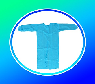 Protection Gown PP SS NON WOVEN , 40GSM, COLOR BLUE