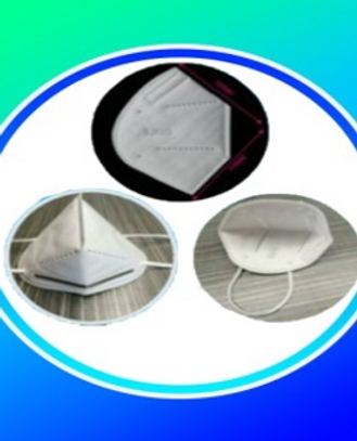 KN95 Face Mask 5-LAYERS, 160g FABRIC (MELT-BLOWN, HOT AIR, AND NON-WOVEN)