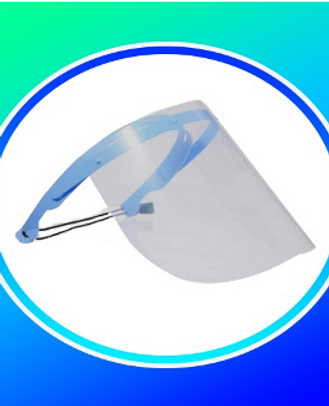 Face Shield DIMENTION L320mm X H220mm , THICKNESS 0.25mm, HEAD BAND MATERIAL Pet Plastic, HDPE, ACETIC