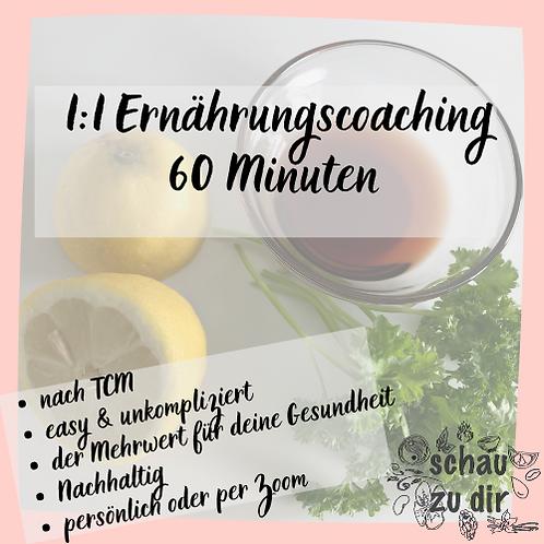 1:1 Ernährungcoaching 60 Minuten
