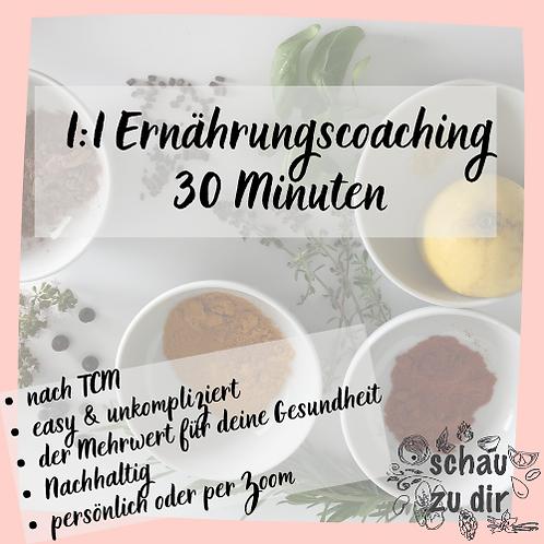 1:1 Ernährungcoaching 30 Minuten
