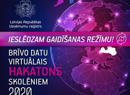 25  Latvijas skolu jaunieši un to pedagogi kļūst par BRĪVO DATU  HAKATONA SKOLĒNIEM 2020 vēstnešiem