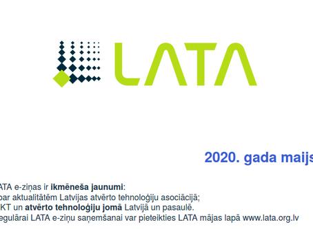 Pieejamas 2020. gada maija LATA e-ziņas