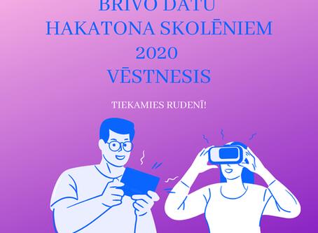 Aktīvākās un darbīgākās komandas kļuvušas par Brīvo datu HAKATONA SKOLĒNIEM 2020 VĒSTNEŠIEM!