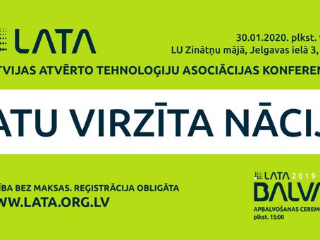 """Atvērta reģistrācija LATA konferencei """"Datu virzīta nācija"""""""