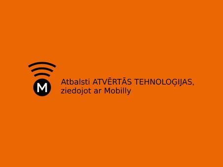 Ziedo ar Mobilly atvērto tehnoloģiju attīstībai