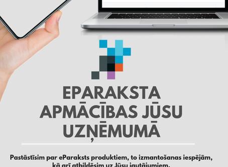 Piesakiet savu uzņēmumu bezmaksas apmācībām par eParakstu
