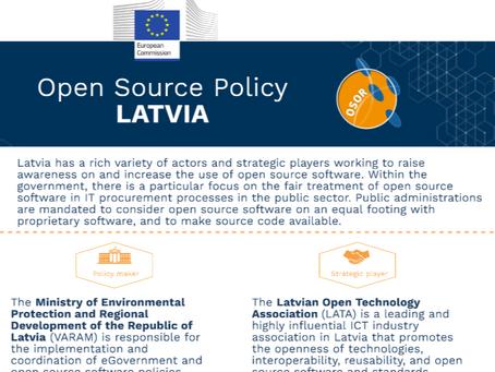 Publicēts ziņojums par atvērtā pirmkoda politiku un iniciatīvām Latvijā