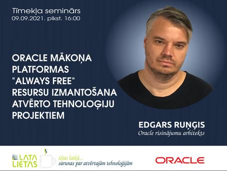 Aicinām pieteikties semināram par Oracle mākoņa platformas resursiem