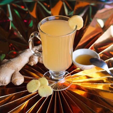 hot honey ginger tea