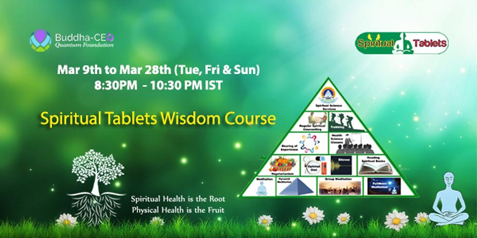 3 week - Spiritual Tablets Wisdom Course - Mar 9th to Mar 28th (Tue, Fri & Sun)