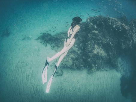 Dive right into the fear - What trying freediving taught me about growth mindset.