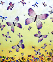 Large Butterfly Painting