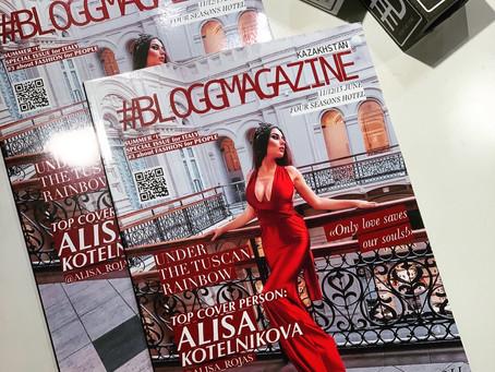 #BLOGGMAGAZINE_KAZAKHSTAN презентовал печатную версию журнала! На обложке @ALISA_ROJAS