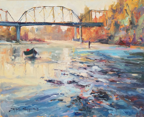 """""""Sun Up Chuck"""" 16x20 oil on canvas..jpg"""