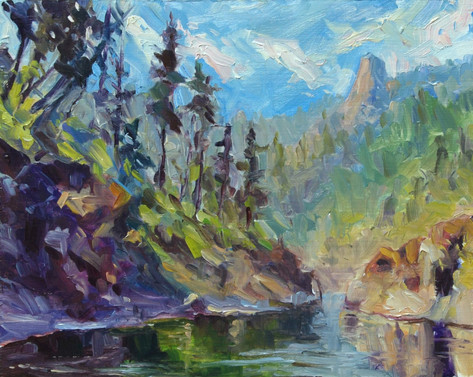Back Up to Mule Creek Canyon 10x8 oil on board SOLD