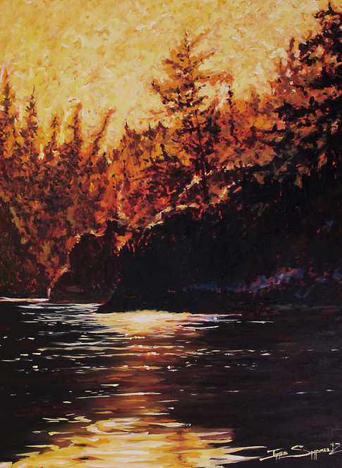 A Radiant Rogue River 36x48 canvas SOLD