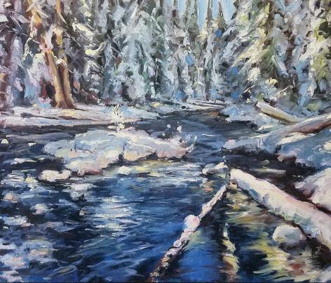 _Mild Muir Creek_ 18x24 oil on canvas.jp