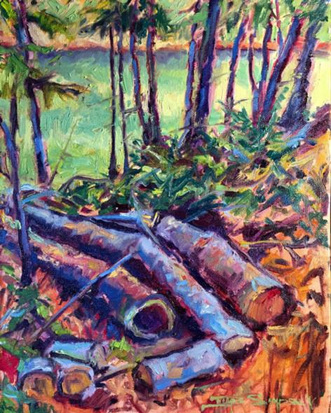 Fallen, 11x14 oil on canvas