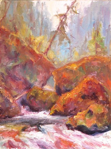 Tanner Touch 9x12 oil on on canvas board, en plein-air