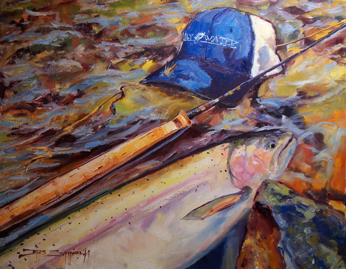Fly Water Chrome 24x30 oil on canvas SOLD