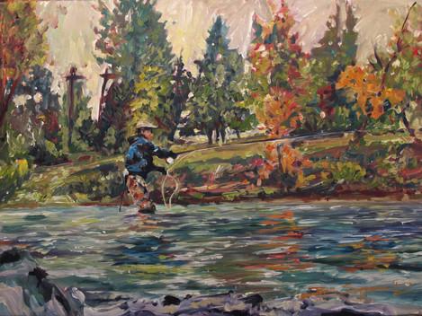 Kenji's Colors, 28x20 acrylic on canvas