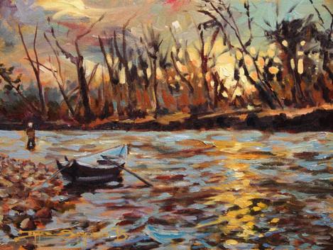 Upper Rogue Sunset 16x12 canvas SOLD