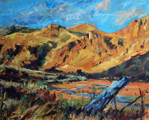 In Windy Flat's Shadow 30x24 SOLD