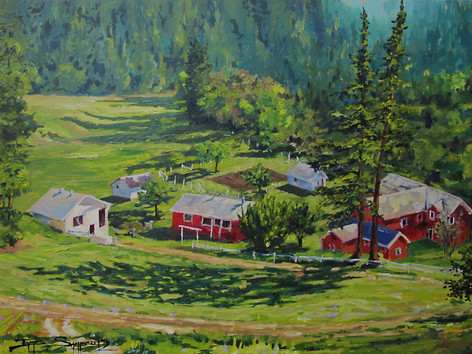 Anderson Family Ranch 40x30 canvas, SOLD