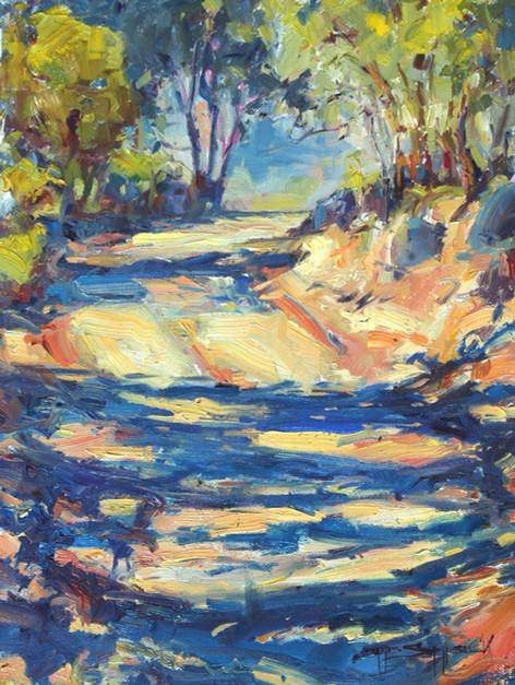 Jack's Road 11x14 oil on canvas, en plein air